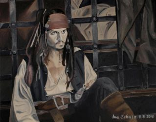 Johnny Depp - The Pirate by shaman-art