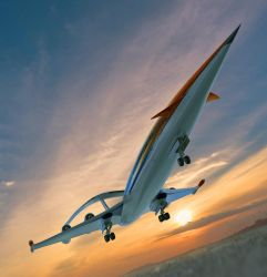 Supersonic Green Plane 01 by Shelest