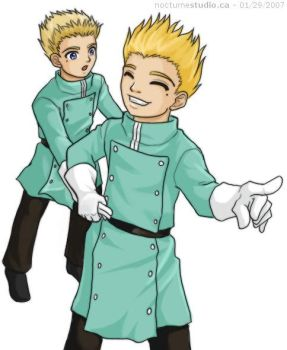 Trigun - Young Vash and Knives by Aukum