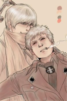 Russia x Prussia by RhodeMary