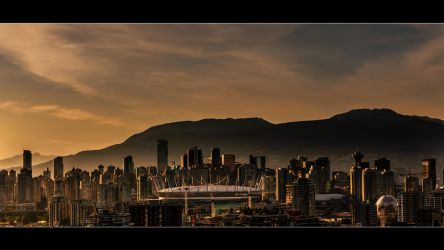 Vancouver Downtown at Sunset by insomniac199