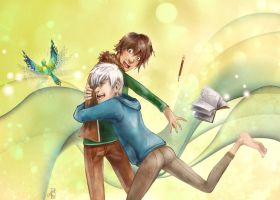Jack Frost and Hiccup by Hi-Ku