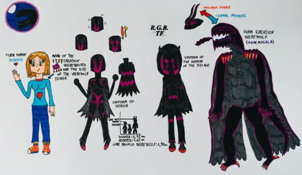 The protagonist of the Gore Magala werewolf by LUNA1071996
