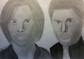Sam and Dean Winchter (graphite) by Dees4life