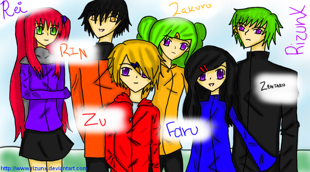 6 of my 17 Original Characters by RizunX