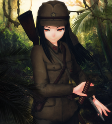 [MMD] Shiho Hattori (1942) by AbyssLeo