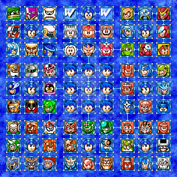 Mega Man Bosses Poster by Brainader