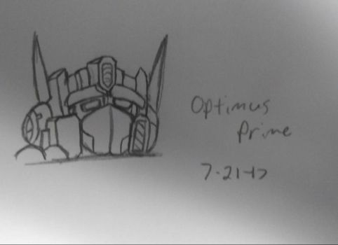 I tried to draw Optimus Prime... by EmpatheticMortalAnge