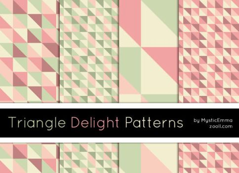 Triangle Delight Patterns by MysticEmma