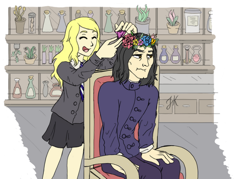 Snape flower crown Luna by JessieReigne