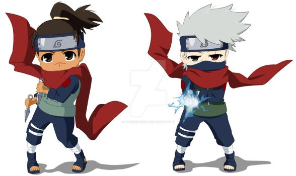 Chibi KakaIru Action by Mockingbyrd