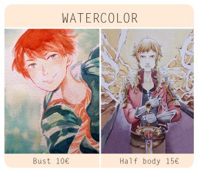 WATERCOLOR COMISSIONS by Neko6