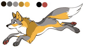 commission - golden island fox design by StanHoneyThief