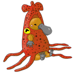 Platypus dressed as a squid by shininginthedarkness
