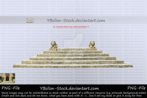 Stairs with lion statues by YBsilon-Stock by YBsilon-Stock