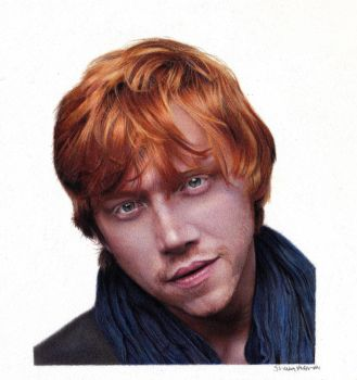 Drawing of RUPERT GRINT Colored Pencil Portrait by ShaunMckenzie