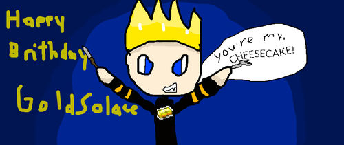Happy Brithday GoldSolace by Kittygames50