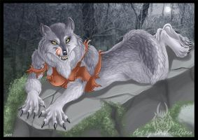 Werewolf Girl - Commission by DrakainaQueen