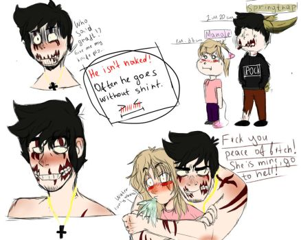 Human Springtrap ( Mangle is here too)0) ) by polinaaa0902