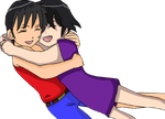 .:. Heba and Shon .:. Hug by Heba-Asawa
