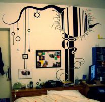 a painting on the wall WIP 2 by pomadora