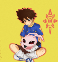 Tai loves Koromon by BakeroHK