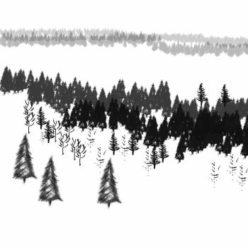 Winter Trees Brushes by philippeL