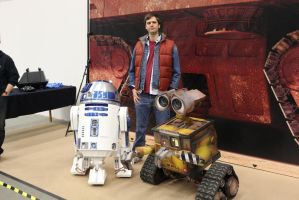 Me with R2-D2 and Wall-E by EgonEagle