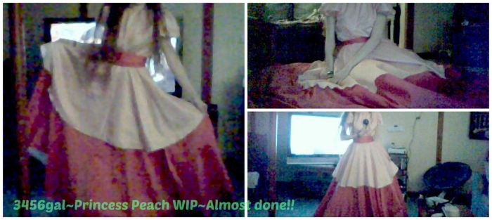 More Classic Princess Peach Cosplay WIP~Dress by 3456gal