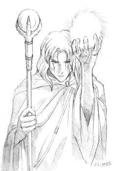 Raistlin from DragonLance by J-C