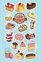 Sweet Tooth - Dessert Stickers by miaow