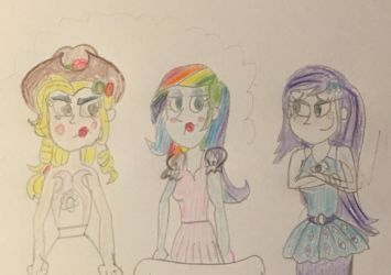 Applejack and Rainbow with full makeup.  by 13mcjunkinm