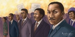 Martin Luther King Jr and the Civil Rights Leaders by RachelLaughman