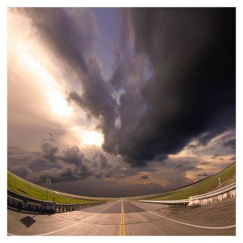 the sky and the fisheye by foureyes