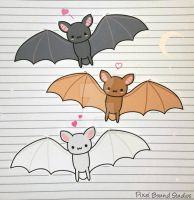 Chibi Bat Stickers by pixelboundstudios