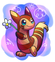 Floral Furret by AlphaRoo