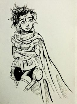 inktober day 06 - she definitely needs the cape by niitsvee