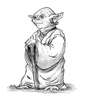 Grand Jedi Master Yoda by Cosmic-Void