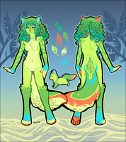 Forest Fae - Ref Sheet by nekophoenix