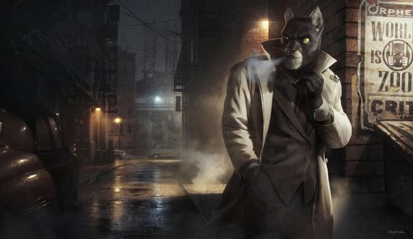 2013 | Illustration | Fan art | Blacksad by djahal