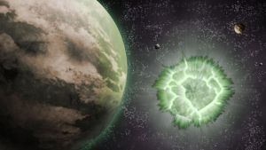Krypton explosion - Space wallpaper by H-Thomson