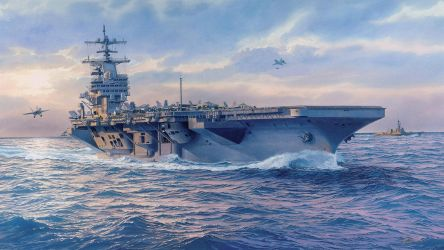 USS George H. W. Bush (CVN-77) Art Painting by ROGUE-RATTLESNAKE