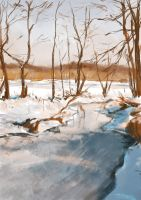 Scenery sketch - Winter by yuhime