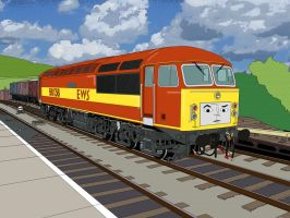A class 56 goes to Sodor (TVS style, Alt Livery) by Edelroark