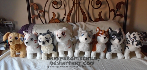 Ginga plush collection by darkpheonixchild
