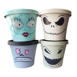 Nightmare Before Christmas Character pots by geekymcfangirl