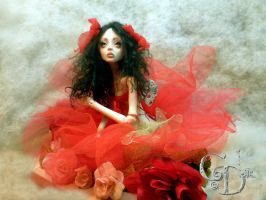 BJD Painting the roses BB by cdlitestudio
