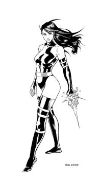 Psylocke commission by Ric1975