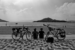 Cycling on route 33, Japan by insigma00