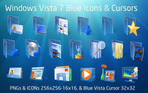 Blue Vista Icons Windows 7 by Z08-Styles